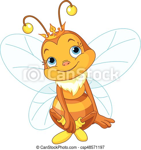 mignon, reine abeilles - csp48571197