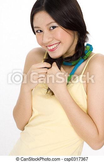 mignon, sourire - csp0317367