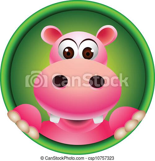 Mignon t te dessin anim hippopotame mignon t te - Dessin d hippopotame ...