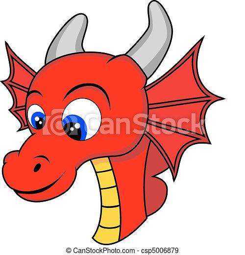 Mignon t te dragon mignon non gradient illustration dragon vecteur head - Dessin de tete de dragon ...