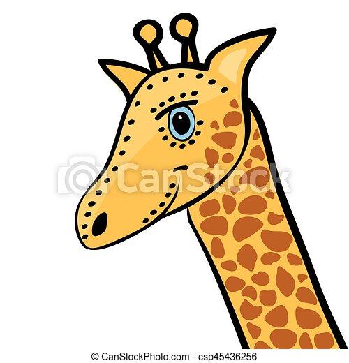 Mignon t te girafe dessin anim rigolote mignon - Girafe rigolote ...