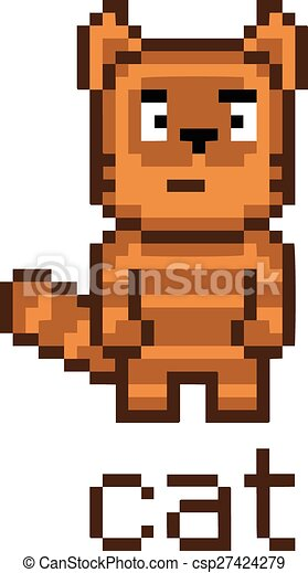 Mignon Tabby Pixel Chat