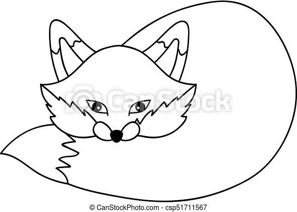 Mignon Vecteur Renard Dessin Anime Mignon Fox Renard