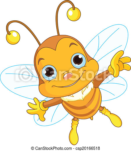 mignon, voler, abeille - csp20166518