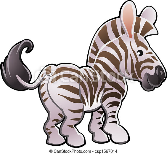 mignon, zebra, illustration, vecteur - csp1567014