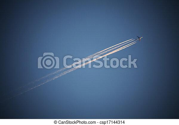 Migratory birds in the sky - csp17144314