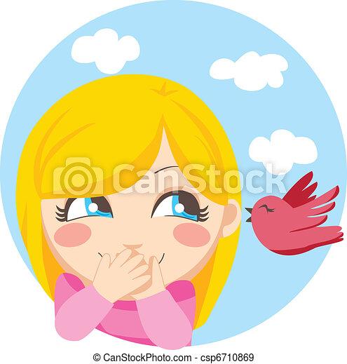 mij, weinig; niet zo(veel), vogel, vertelde - csp6710869