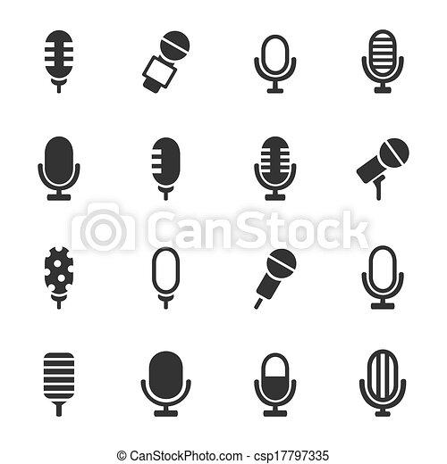 mikrofon, ikona - csp17797335