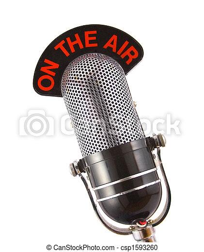 mikrofon, retro - csp1593260