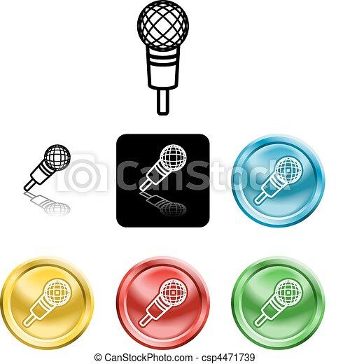 Mikrofon, symbol, ikona. Mikrofon, versions, symbol,... – pliki ...