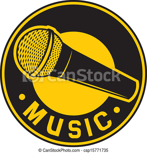 Mikrofon, symbol, klassisk. Mikrofon, klassisk, tegn, symbol, sign ...