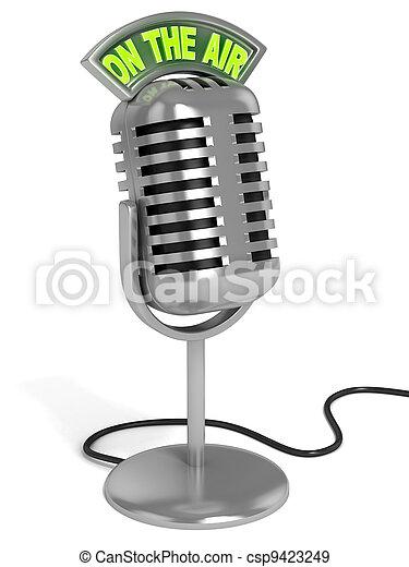 mikrophon, abbildung, 3d - csp9423249