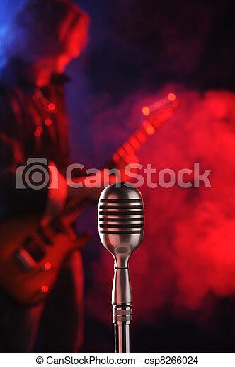 mikrophon, leben, weinlese, gestein - csp8266024