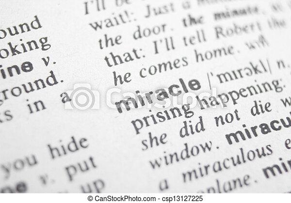milagre - csp13127225