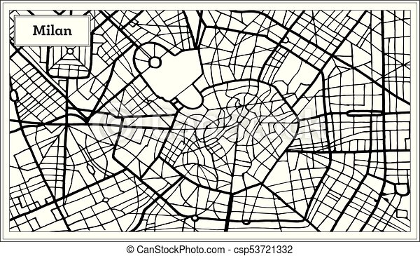 Milan italy city map in black and white color hand drawn milan italy city map in black and white color csp53721332 thecheapjerseys Choice Image