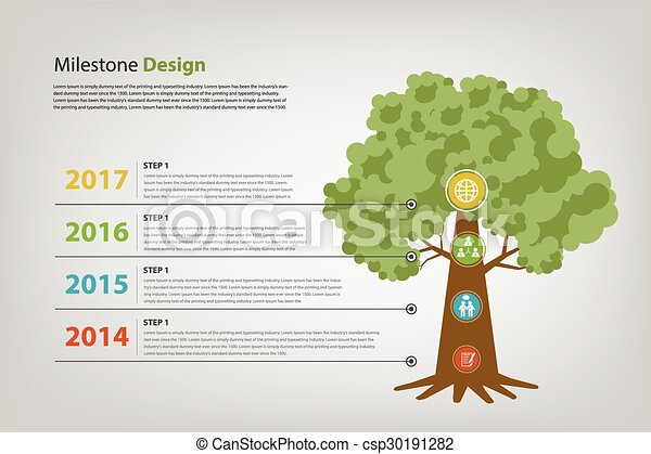 milestone and timeline infographic vector eps10 progress and