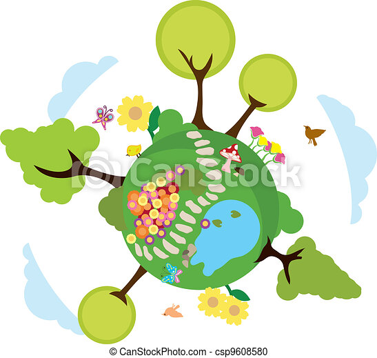milieu, aarde, achtergrond - csp9608580