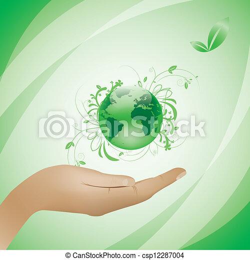 milieu, concept, groene achtergrond - csp12287004