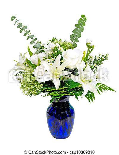milieu de table, arrangement fleur - csp10309810