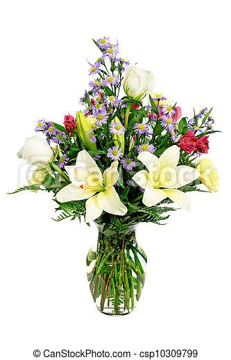 milieu de table, arrangement fleur - csp10309799