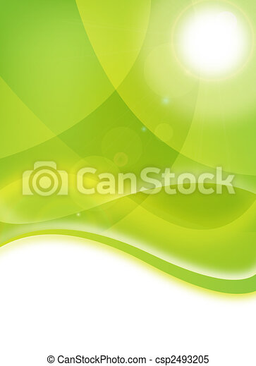 milieu, flyer, groene - csp2493205