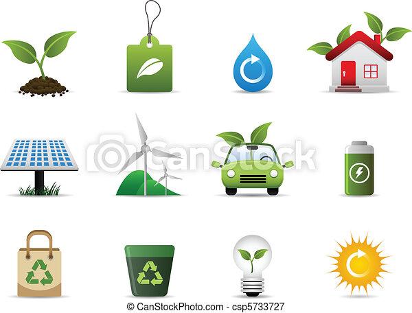 milieu, groene, pictogram - csp5733727