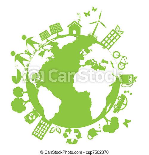 milieu, groene, schoonmaken - csp7502370