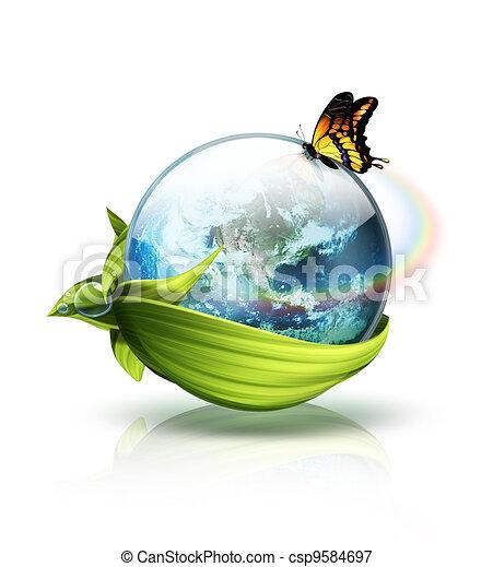 milieu, planeet, concept - csp9584697