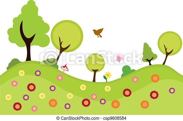 milieu, planten, achtergrond - csp9608584