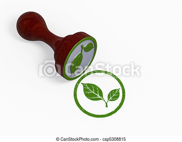 milieu, postzegel, groene - csp5308815
