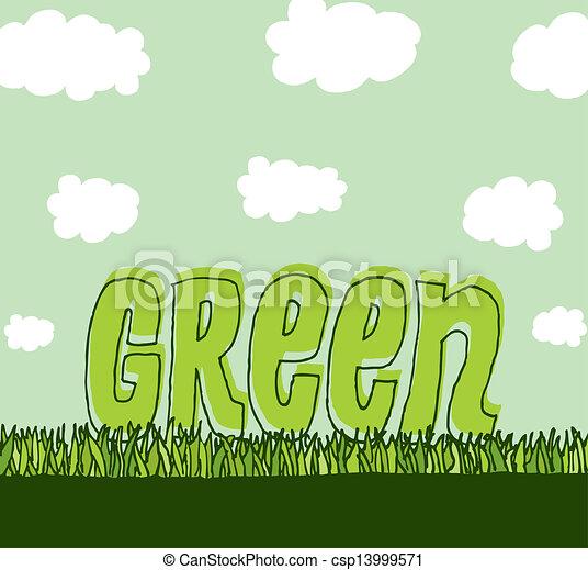 milieu, schoonmaken, groene, /, copyspace - csp13999571