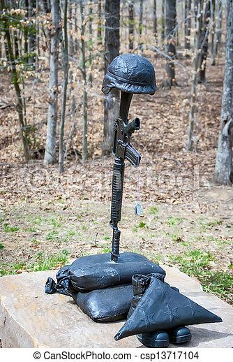 militär, järn, staty - csp13717104