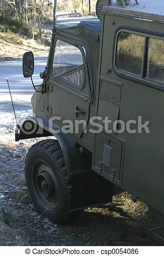 militär, lastbil - csp0054086