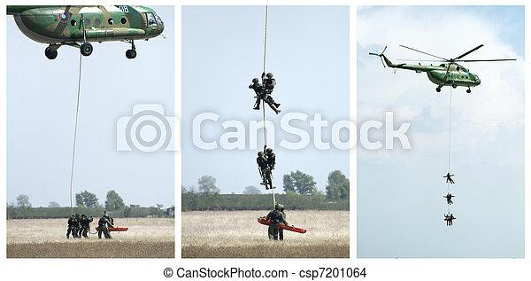 militär, operation, helikoptrar - csp7201064