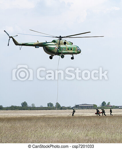 militär, operation, helikoptrar - csp7201033