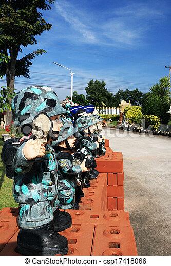 militär, thai, skulptur, dockor - csp17418066