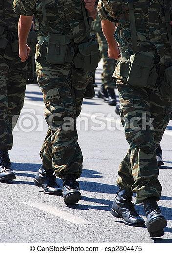 militär, tjäna som soldat - csp2804475