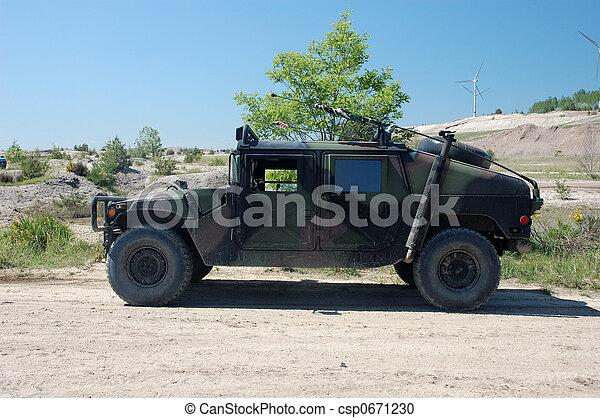 militärisches fahrzeug - csp0671230