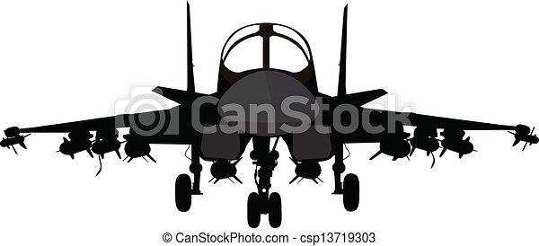 militärisches flugzeug - csp13719303