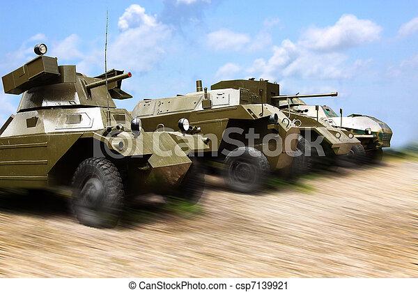 militaer, arbeit, autos - csp7139921