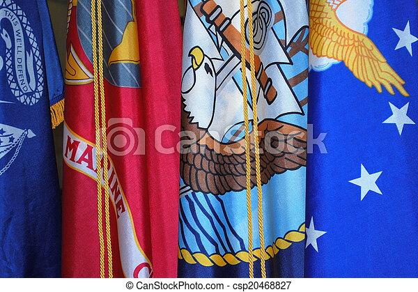 militaer, flags. - csp20468827