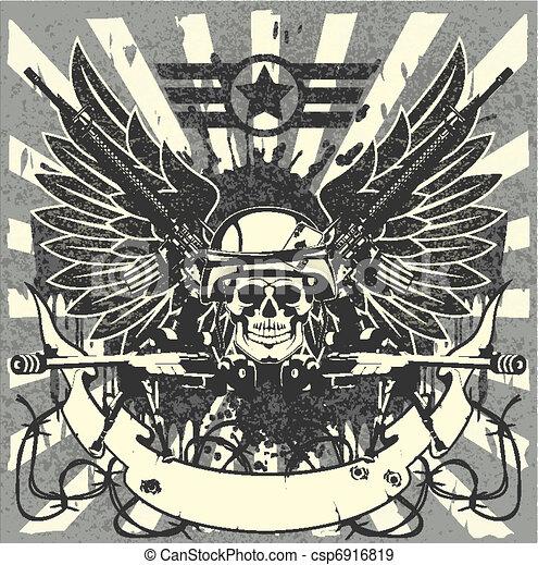 militaire, emblème - csp6916819