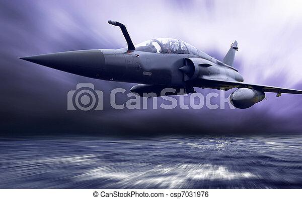 Plan aéreo militar a la velocidad - csp7031976