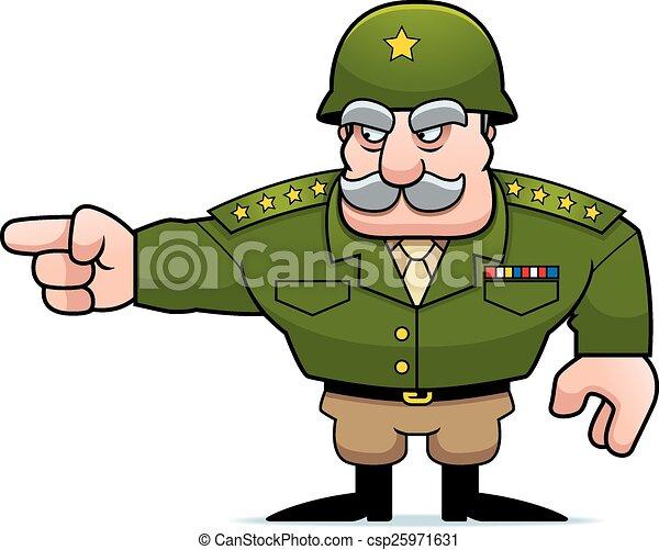 Señales militares de dibujos animados - csp25971631