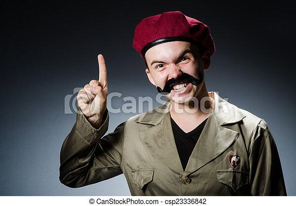militar, conceito, soldado, engraçado - csp23336842