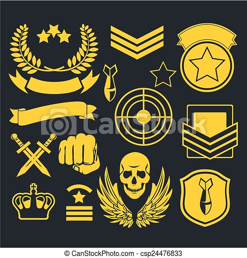 militar, especiais, unidade, remendo - csp24476833