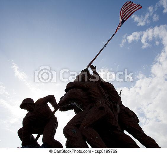 militar, estatuas - csp6199769