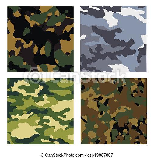 militar, fondos - csp13887867