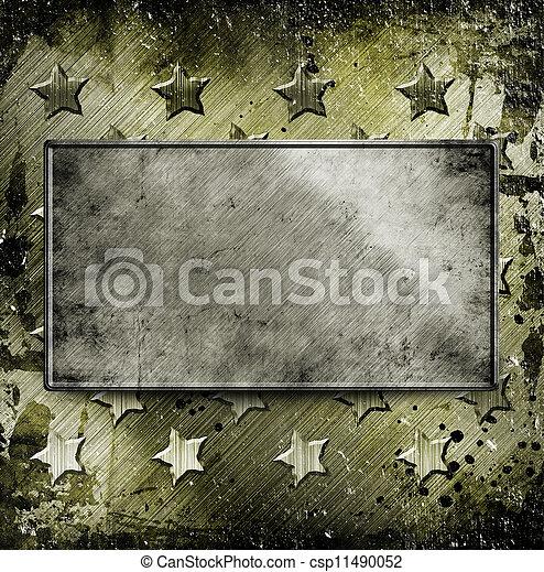 militar, grunge, fundo - csp11490052