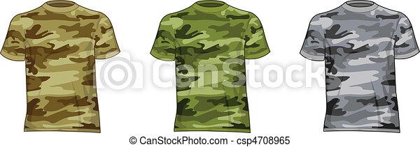 Hombres camisas militares - csp4708965